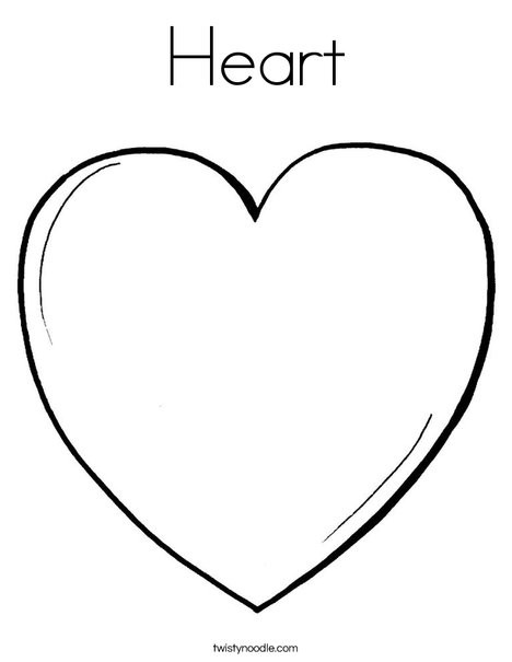 Heart Coloring Worksheet Heart Coloring Page Twisty Noodle