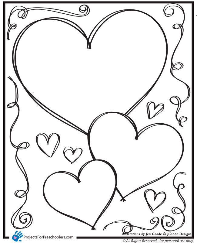 Heart Coloring Worksheet Printable Heart Coloring Pages – Azspring