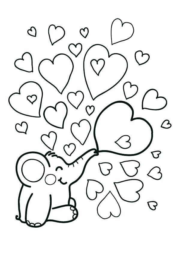 Heart Coloring Worksheet Valentine Heart Coloring Pages In 2020