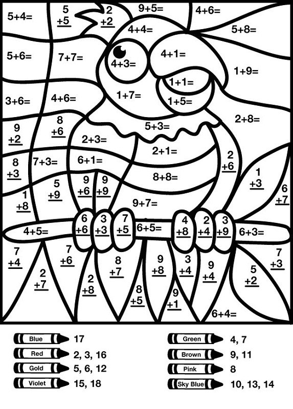 hidden picture math worksheets addition