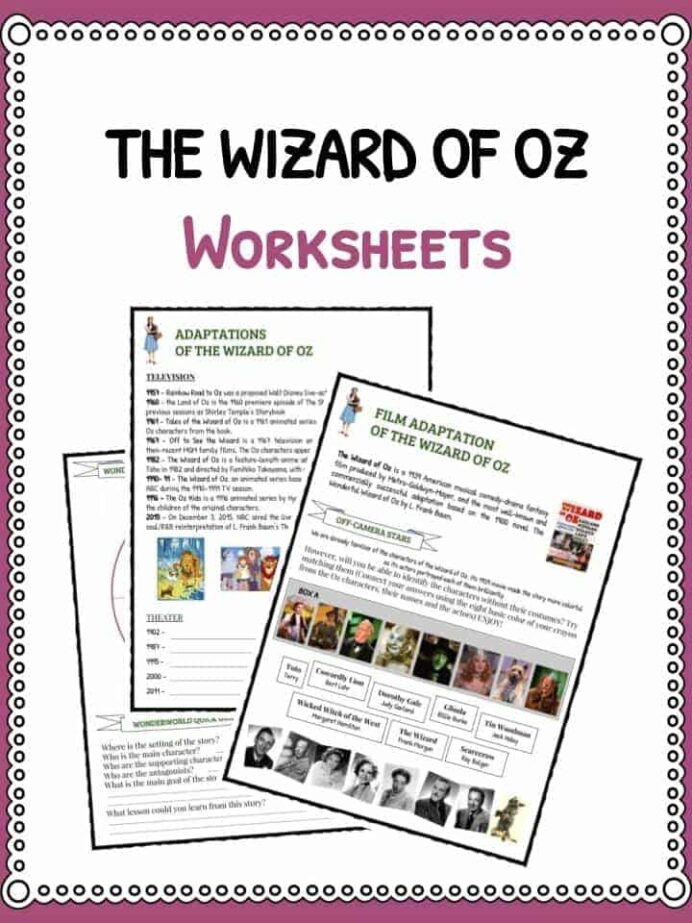 History Worksheets for 2nd Grade Wizard Oz Facts Information Publishing History Worksheets