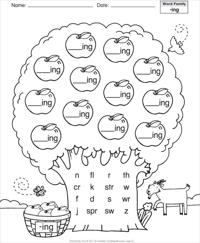 History Worksheets for 2nd Grade Word Family Worksheets Families for Second Grade Tutoring