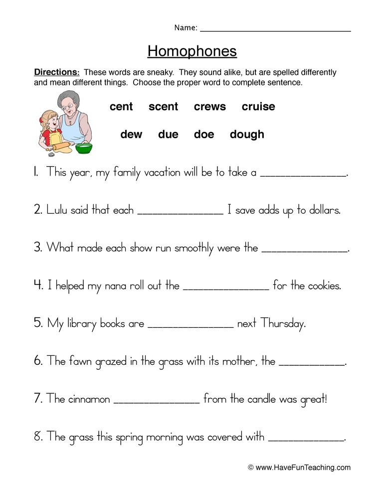 Homophones Worksheet 5th Grade Homophones & Homonyms Lessons Tes Teach
