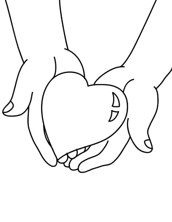 Human Heart Coloring Worksheet Heart Coloring Pages 90 Print them for Free