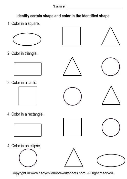 Identify Shapes Worksheet Kindergarten Basic Shapes Worksheets