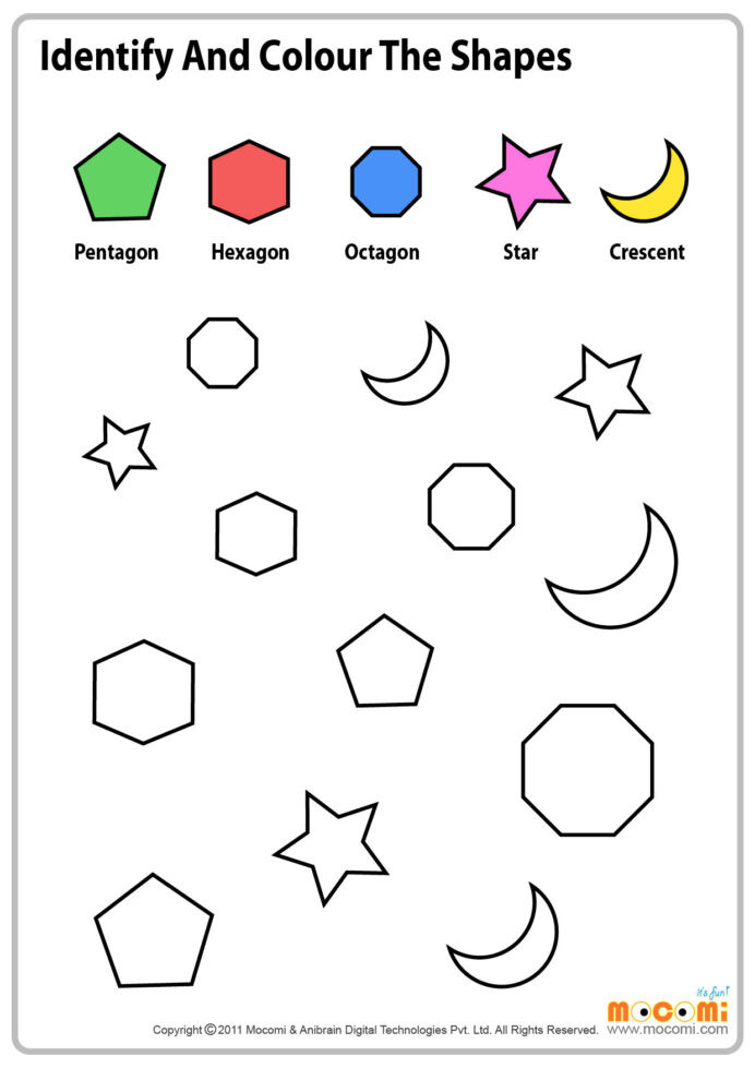 Identify Shapes Worksheet Kindergarten Colour Similar Shapes Maths Worksheet for Kids Mo I