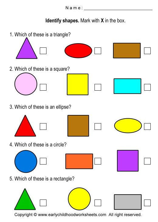 Identify Shapes Worksheet Kindergarten Identify Shapes Worksheets Worksheet 3