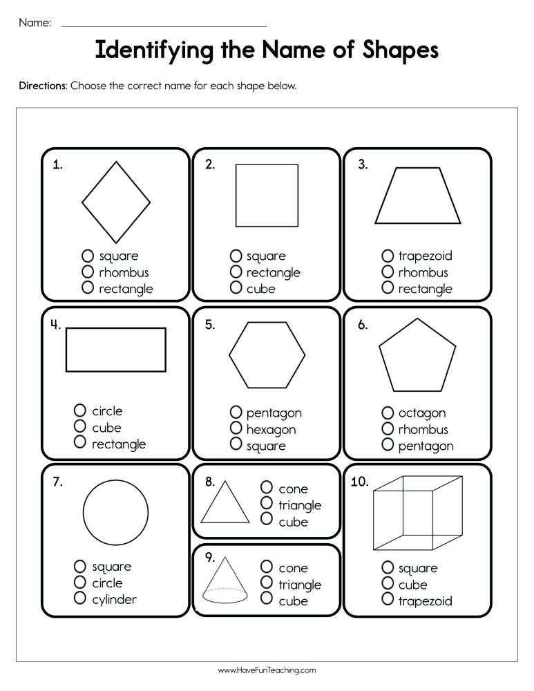 Identify Shapes Worksheet Kindergarten Shape Identification Worksheets – Dailycrazynews