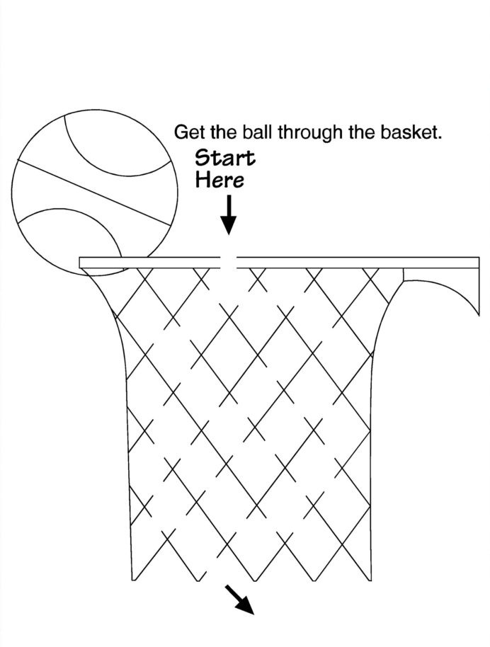 distraction worksheets for kids printable and impulse control basketball activities fun 692x914