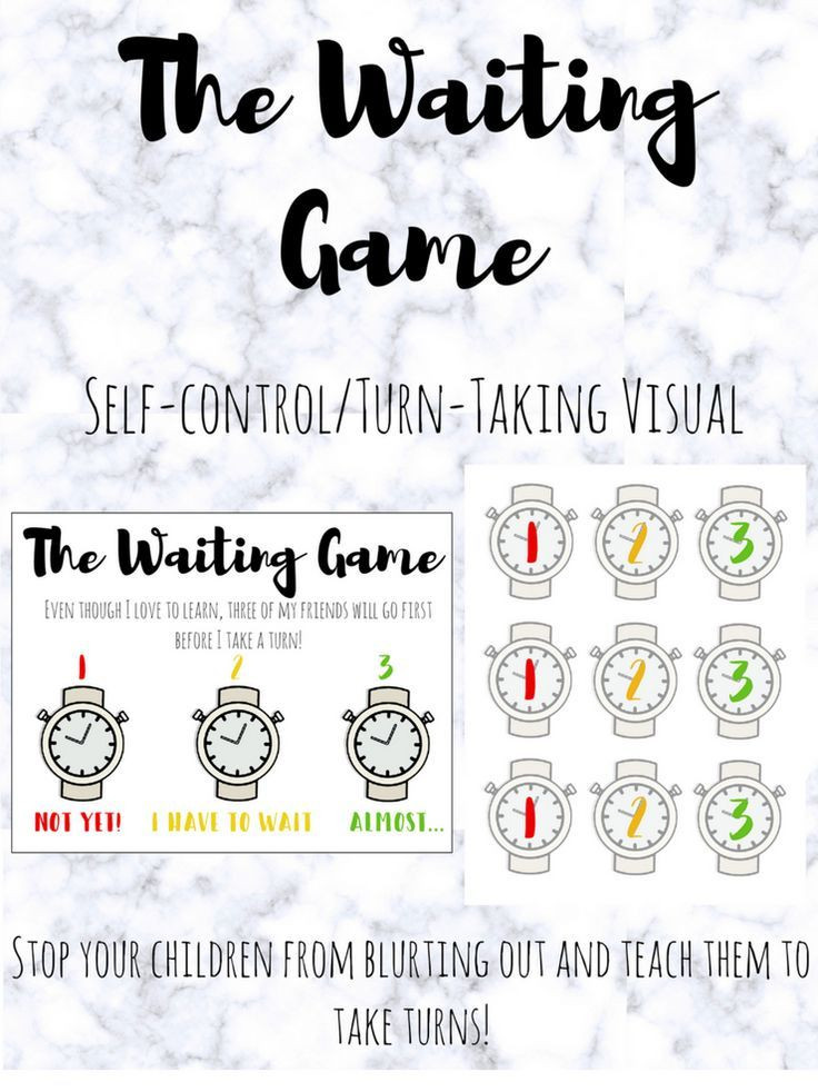 Impulse Control Worksheets Printable Turn Taking Activity and Printable A Self Control Turn