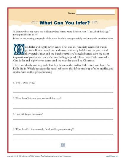 Inference Worksheets for 4th Grade What Can You Infer