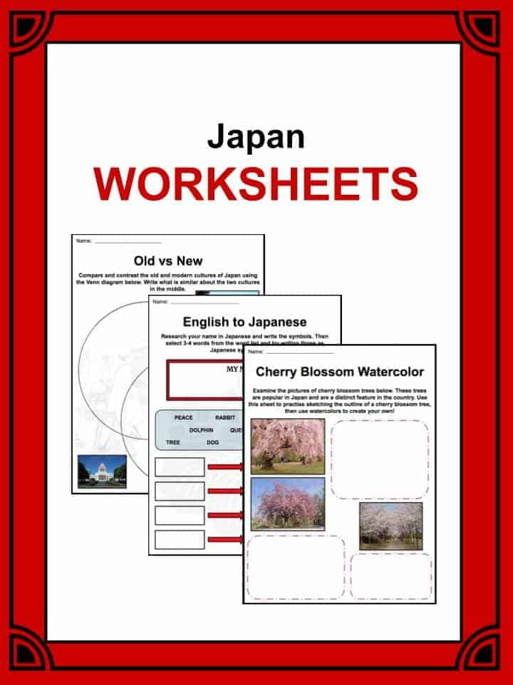Japanese Worksheets Printable Japan Facts Worksheets History Culture & Geography for Kids