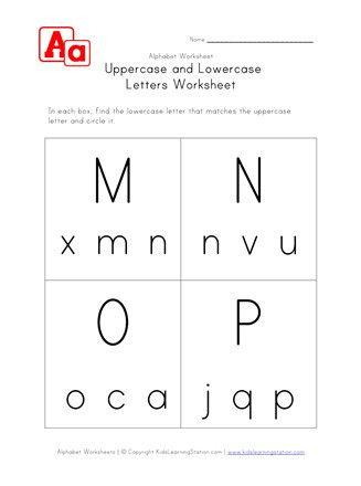 Kindergarten Lowercase Letters Worksheets Lowercase and Uppercase M N O and P Worksheet