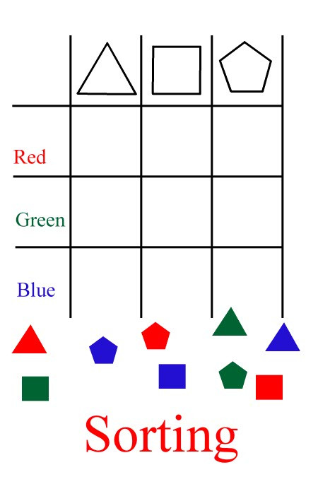 Kindergarten Math sorting Worksheets Free Kindergarten Math Worksheets Geometry