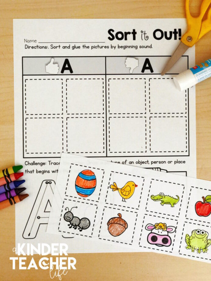 Kindergarten Math sorting Worksheets Free Phonemic Awareness sorting Worksheets Kinderteacher