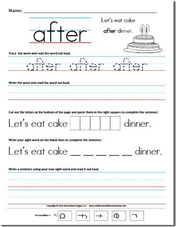 Kindergarten Sentence Writing Practice Worksheets First Grade Sight Word Sentences – Confessions Of A Homeschooler