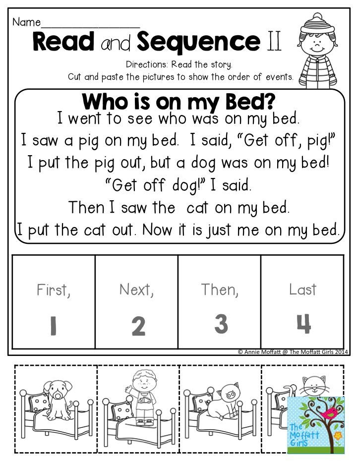 Kindergarten Sequencing Worksheet January Learning Resources with No Prep