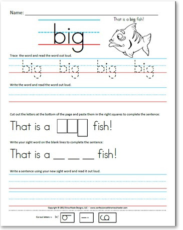 Kindergarten Sight Words Worksheet Free Pre Kindergarten Pre Primer Sight Word Sentences