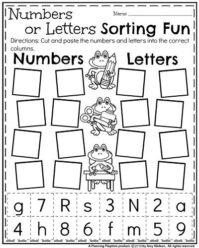 Kindergarten sorting Worksheets Back to School Kindergarten Worksheets