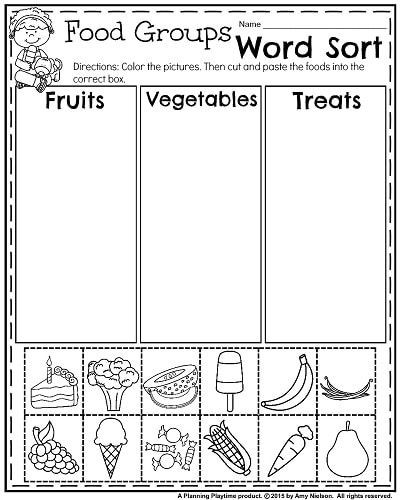 Kindergarten sorting Worksheets Summer Kindergarten Worksheets