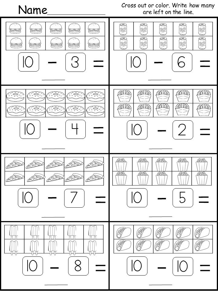 Kindergarten Subtraction Worksheets Free Printable Numbers 0 10 Worksheets 99 Sale now