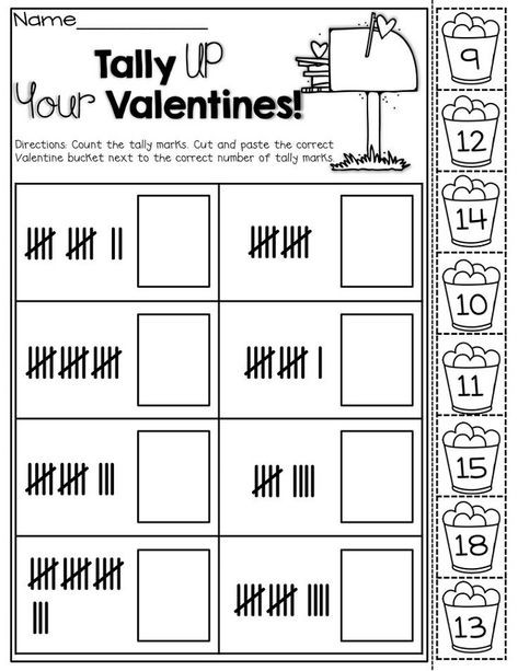 Kindergarten Tally Mark Worksheets Tally Mark Worksheet