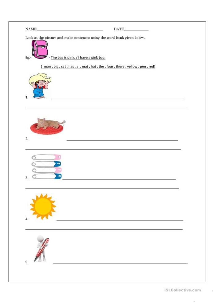 Kindergarten Writing Sentences Worksheets Adding 1 Worksheets Kindergarten Writing Sentences