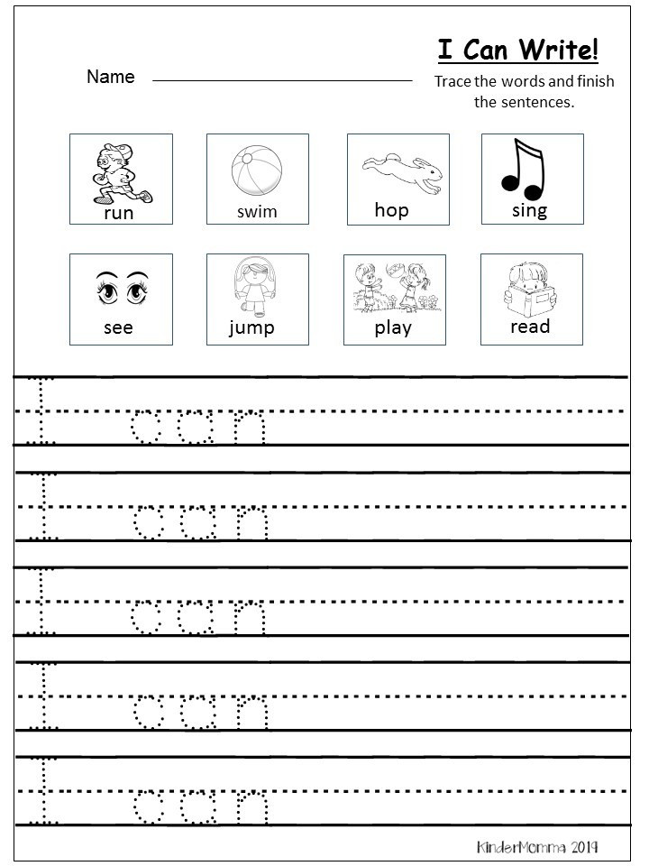 Kindergarten Writing Sentences Worksheets Free Writing Printable Kindergarten and First Grade