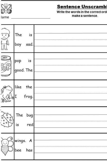 Kindergarten Writing Sentences Worksheets Pin On Writing Worksheets Kindergarten