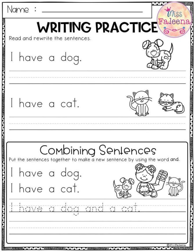 Kindergarten Writing Sentences Worksheets Worksheet Stunning Kindergarten Writing Practice