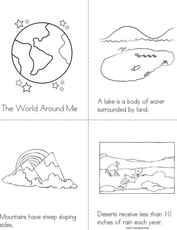 Landforms Worksheet for Kindergarten Landforms Mini Book