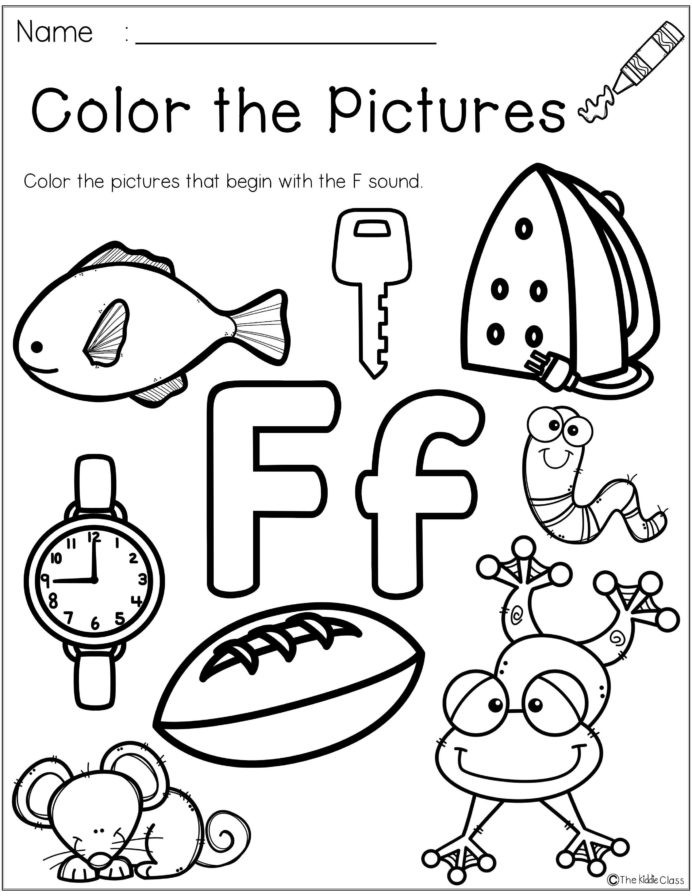 Letter F Worksheets for toddlers Letter the Week Lettering Phonics Activities Worksheets