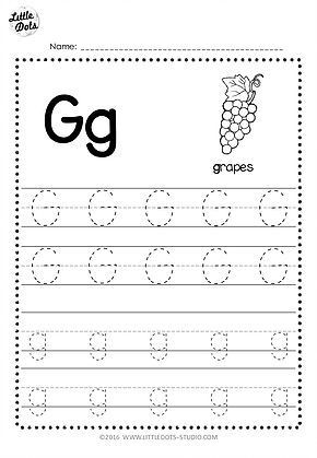 Letter G Tracing Worksheets Preschool Free Letter G Tracing Worksheets