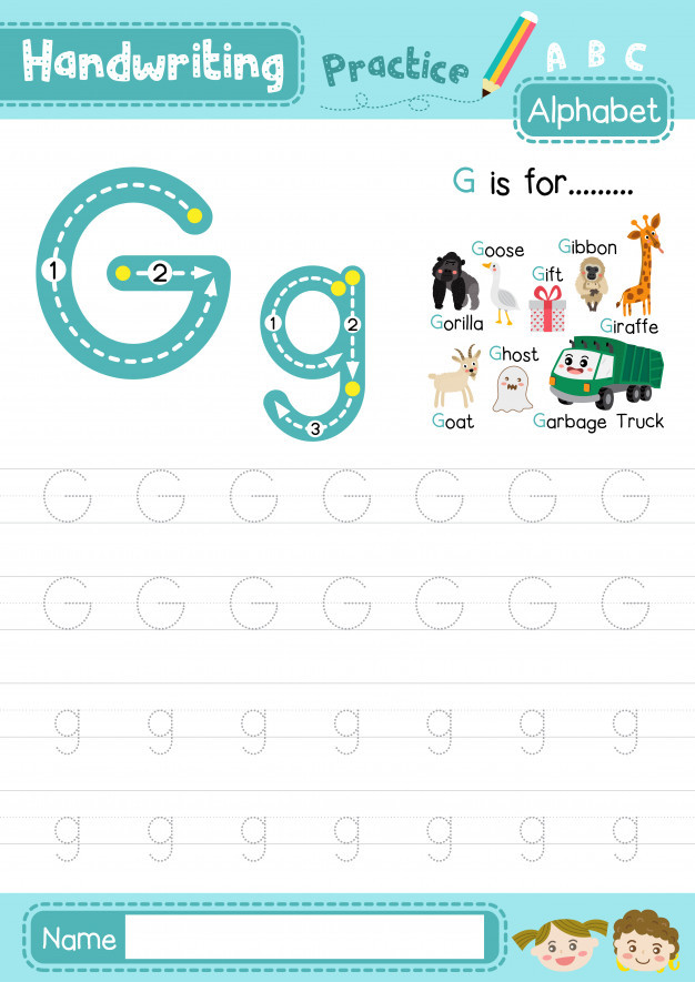 Letter G Tracing Worksheets Preschool Letter G Uppercase and Lowercase Tracing Practice Worksheet
