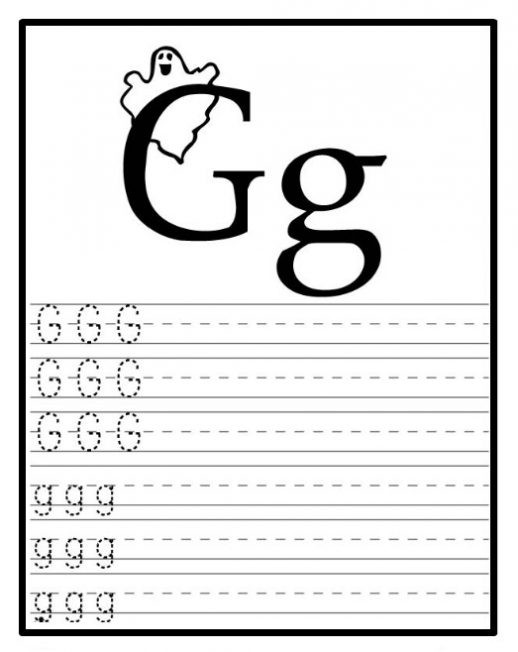 Letter G Worksheets for Kindergarten Free Printable Letter G Worksheets for Kindergarten & Preschool
