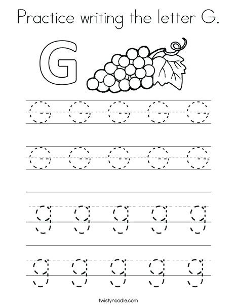 Letter G Worksheets for Kindergarten Letter G Worksheets for Preschoolers – Girisx