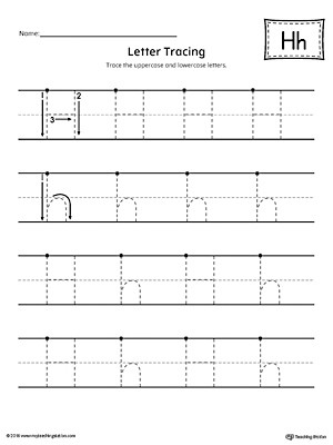 Letter H Tracing Worksheet Letter H Tracing Printable Worksheet