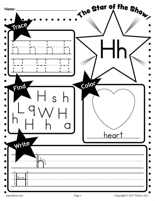 Letter H Tracing Worksheets Letter H Worksheet Tracing Coloring Writing & More