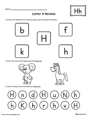 Letter H Worksheets for Preschool All About Letter H Printable Worksheet