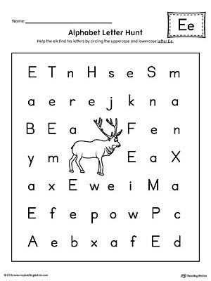 Letter Hunt Worksheet Alphabet Letter Hunt Letter E Worksheet