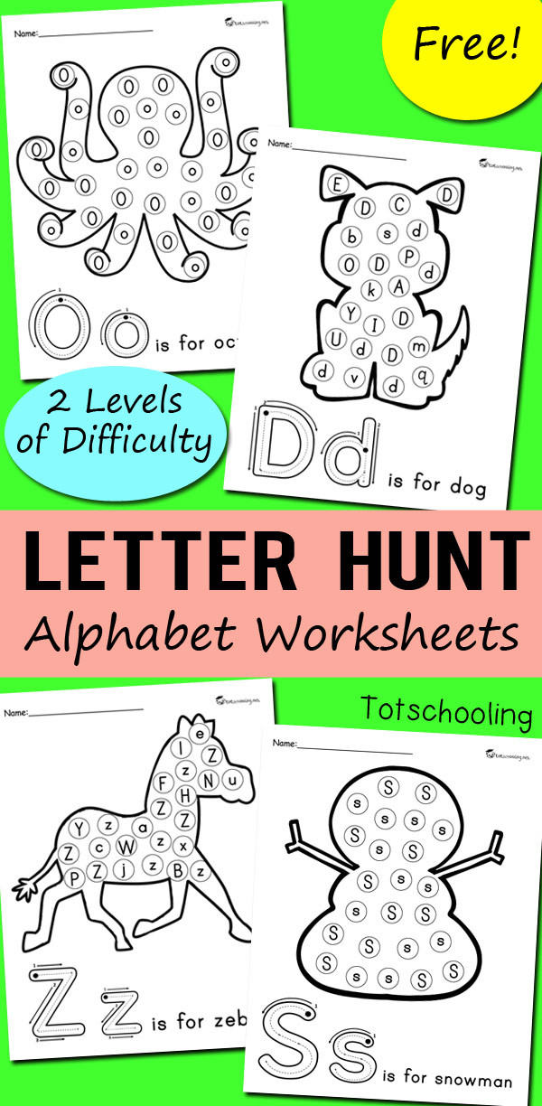 Letter Hunt Worksheet Alphabet Letter Hunt Worksheets