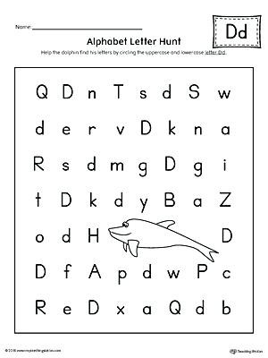 Letter Hunt Worksheet D Worksheets – Timothyfregosoub