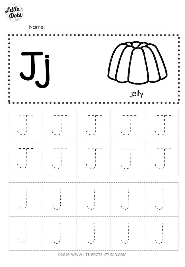 Letter J Worksheets Free Letter J Tracing Worksheets