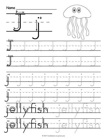 Letter J Worksheets Free Printable Tracing Letter J Worksheet