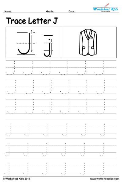 Letter J Worksheets Letter J Alphabet Tracing Worksheets Free Printable Pdf