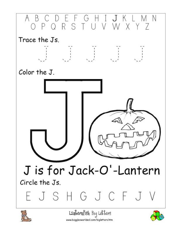 Letter J Worksheets Letter J Alphabet Worksheets