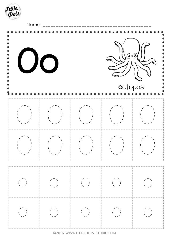 Letter L Worksheet Preschool Free Letter Oo Tracing Worksheets