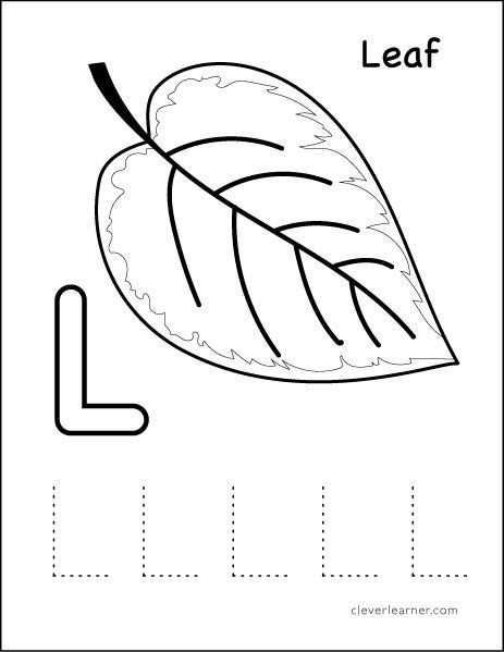 Letter L Worksheet Preschool L Stands for Leaf Preschool Worksheet