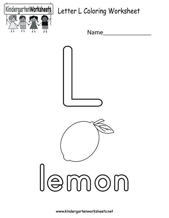Letter L Worksheet Preschool Letter L Coloring Worksheet for Preschoolers or