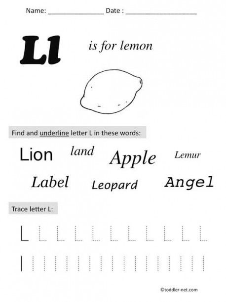 Letter L Worksheet Preschool Pin by Jumana Fatayer On School Worksheets